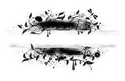 Grunge vector banner royalty free illustration