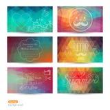 Grunge vector banner. Abstract header vector background set. Tri Stock Photos