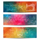 Grunge vector banner. Abstract header vector background. Triangl Royalty Free Stock Image