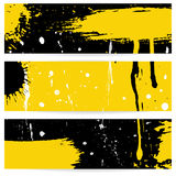 Grunge vector banners Stock Images