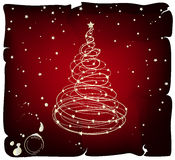 Grunge Vector Christmas Tree. Grunge background with Christmas Tree stock illustration