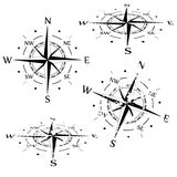 Grunge vector compass set Stock Photography
