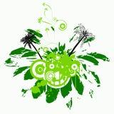 Grunge vector floral design Royalty Free Stock Image