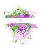 Grunge vector floral design. Royalty Free Stock Photos