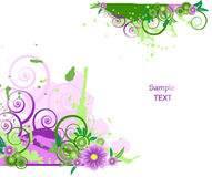 Grunge vector floral design. Royalty Free Stock Image