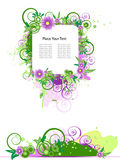 Grunge vector floral design. Royalty Free Stock Photography