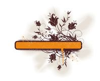Grunge vector floral frame Royalty Free Stock Photo