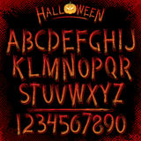 Grunge Vector Font. Grunge Halloween Font. Vector Collection of Latin Letters Stock Photos