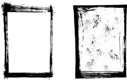 Grunge vector frames. Isolated on white background Royalty Free Stock Images
