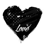 Grunge vector heart Royalty Free Stock Photography