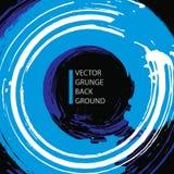 Grunge vector illustration, real ink brush background Stock Photos
