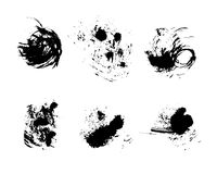 Grunge vector and ink brushes. Abstract black design elements for background stock illustration