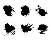 Grunge vector and ink brushes. Stock Photo