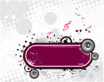 Grunge vector music composition Royalty Free Stock Photography
