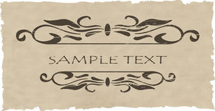 Grunge vector ornate and frame Stock Images