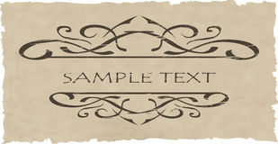Grunge vector ornate and frame Royalty Free Stock Image