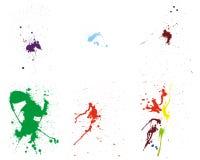 Grunge vector pattern set. Color grunge vector pattern set for design use Stock Image