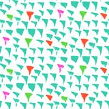 Grunge vector pattern with small drawn triangles. Grunge vector pattern with small hand drawn triangles in bright colors Stock Photography