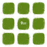Grunge vector retro green shapes Royalty Free Stock Photography