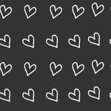 Grunge vector seamless pattern with hand painted hearts. background in black and white colors. Grunge vector seamless pattern with hand painted hearts. print for Royalty Free Illustration