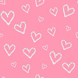 Grunge vector seamless pattern with hand painted hearts. Valentine day background. Grunge vector seamless pattern with hand painted hearts. print for valentines Stock Photo