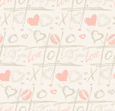 Grunge vector seamless pattern with hand painted Royalty Free Stock Photos