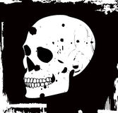 Grunge vector skull Stock Photography