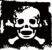 Grunge vector skull Stock Image