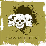 Grunge vector skull Royalty Free Stock Photography