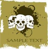 Grunge vector skull Royalty Free Stock Photography