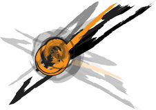 Grunge vector splash circle design Royalty Free Stock Photos