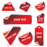 Grunge vector stickers Royalty Free Stock Image