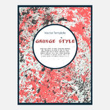 Grunge vector template Royalty Free Stock Images