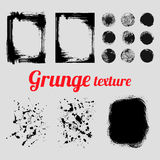 Grunge vector texture set Royalty Free Stock Images