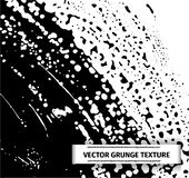 Grunge vector texture of spilled sauce or smeared black paint. Liquid ink pattern with surface tension effect vector illustration