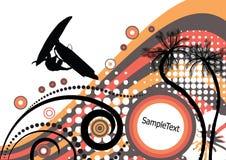 Grunge vector tropical design royalty free illustration