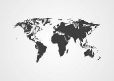 Grunge vector world map Stock Photos