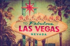 Grunge Vegas znak Fotografia Royalty Free