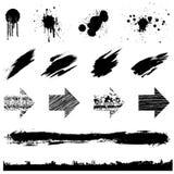 Grunge vektorset Stockbilder