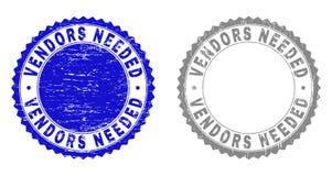Grunge VENDORS NEEDED Textured Stamp Seals vector illustration