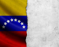 Grunge Venezuela flag. With paper frame royalty free stock images