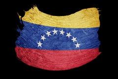 Grunge Venezuela flag. Venezuela flag with grunge texture. Brush stock illustration