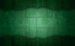 Grunge verde fundo Textured do quadro da cortina Fotografia de Stock