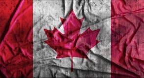 Grunge verfrommelde Canadese vlag het 3d teruggeven Stock Afbeelding