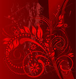 Grunge vermelho ilustração do vetor