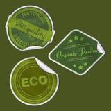 Grunge verpakkende stickers met schaduwen Stock Foto