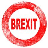 Brexit Rubber Stamp Stock Image