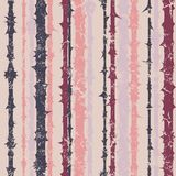 Grunge vertical striped pattern in retro style Stock Image