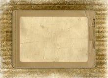 Grunge vervreemd frame van oud document royalty-vrije stock afbeelding