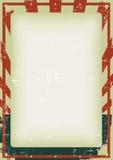 Grunge Viertel des Juli-Plakat-Hintergrundes Lizenzfreie Stockbilder